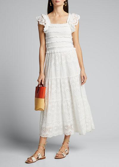 Daisy Smocked Eyelet Dress