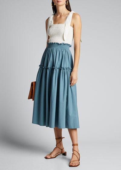 Tabitha Smocked Maxi Skirt