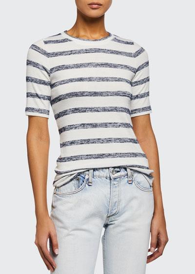 Striped Knit Slim Tee