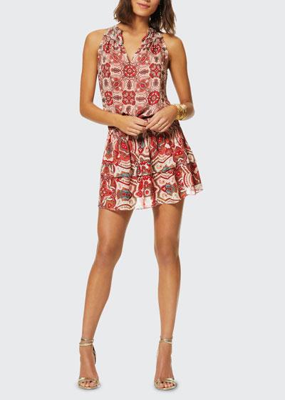 Brady Geometric-Print Dress