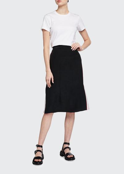 Luca Side-Stripe Pencil Skirt