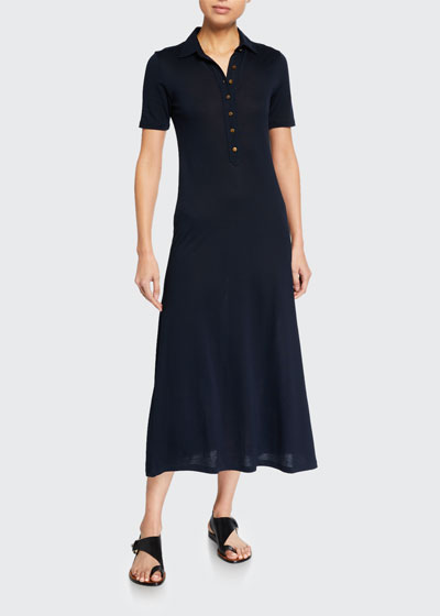 Rower Short-Sleeve Polo Dress