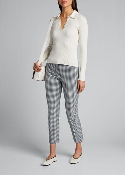 Treeca 4 Grid Cropped Pants