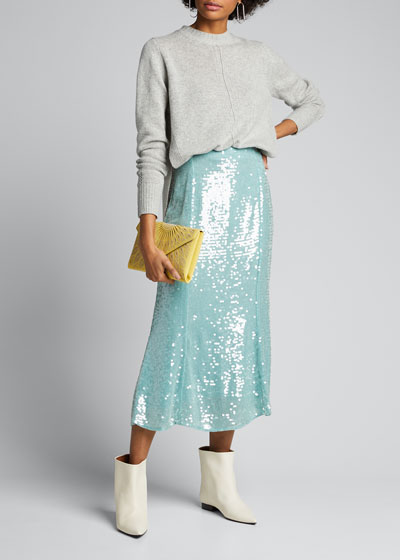 Abigail Sequined Midi Skirt