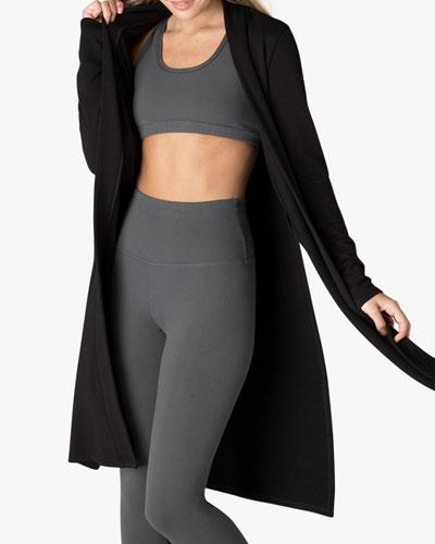 Side-Slit Long Duster Sweater