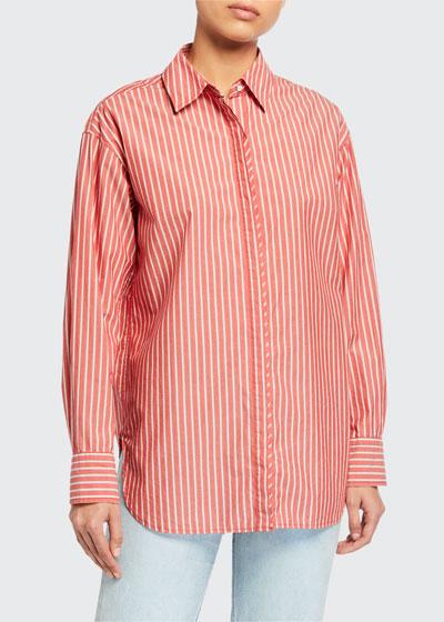 Alina Striped Button-Down Shirt