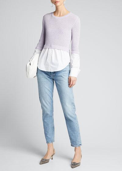 Kaley Mixed Media Sweater