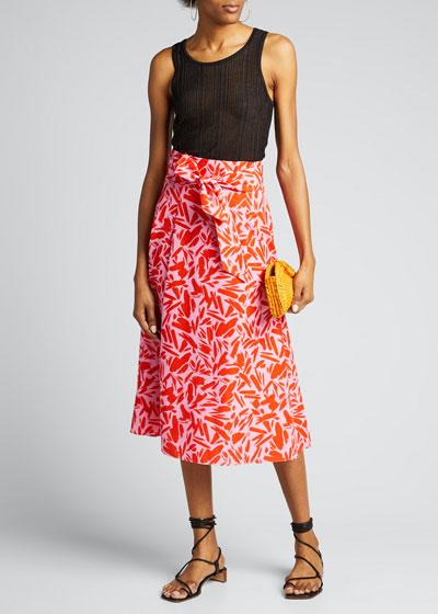 Avi Printed Midi Skirt