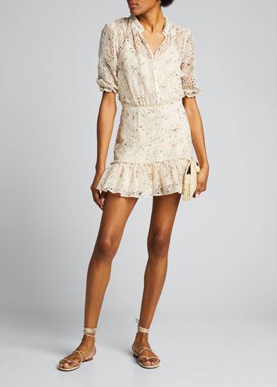 Jax Eyelet Button-Down Dress
