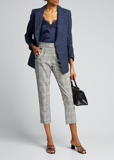 Friedman Check Ankle Pants