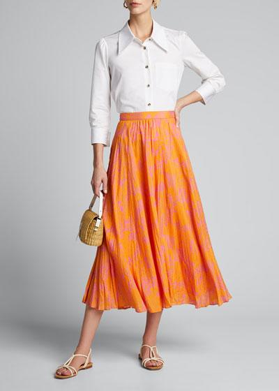 Jeana Printed Midi Skirt