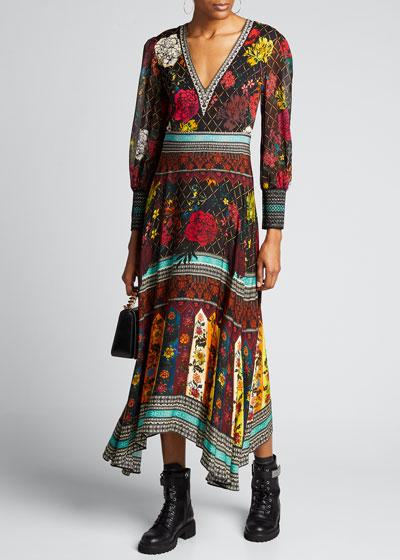 Janey V-Neck Flare Dress