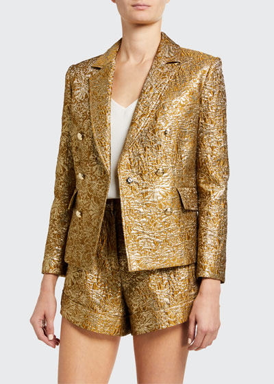 Myla Double-Breasted Cropped Blazer