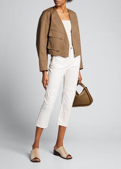 Myriam Twill Cropped Jacket