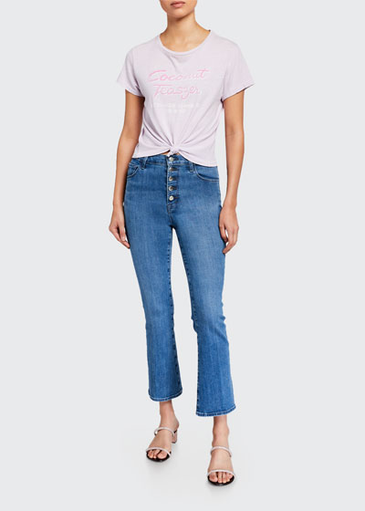 Lillie High-Rise Crop Flare Jeans
