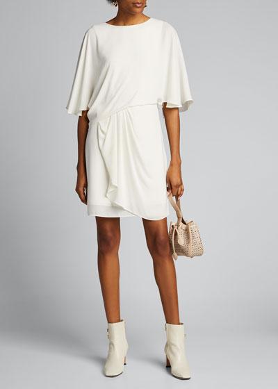 Silky Georgette Draped Skirt Dress