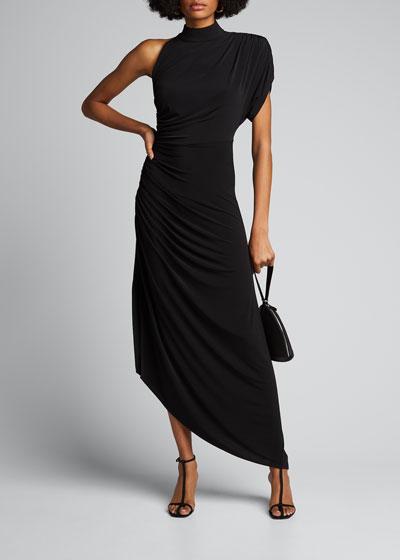 Monica One-Shoulder Asymmetric Cocktail Dress