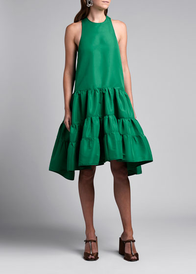 Faille Tiered Dress