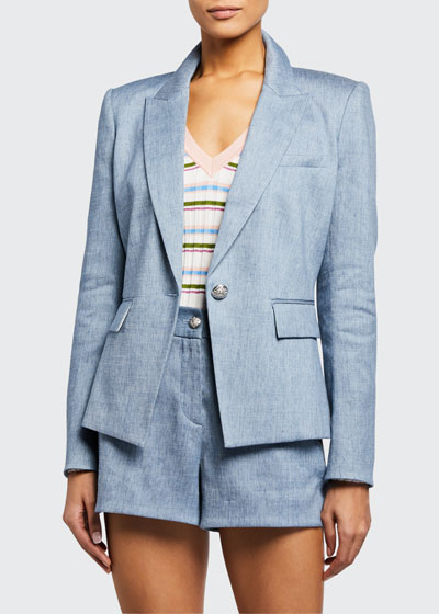 Danielle One-Button Dickey Jacket