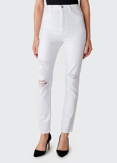 1212 Runway High-Rise Slim Straight Jeans