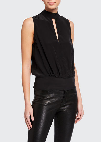 Mock-Neck Sleeveless Party Top