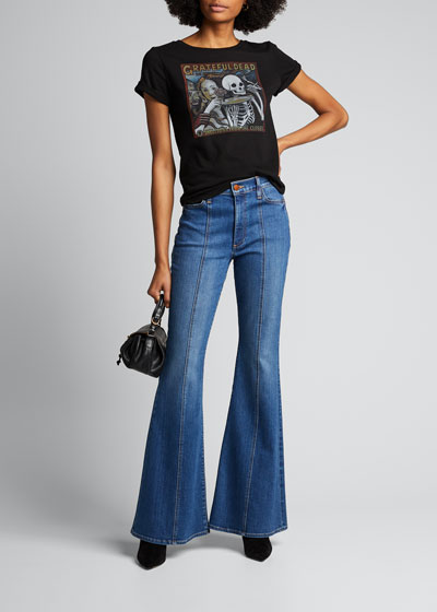 Beautiful Seamed High-Rise Bell Jeans