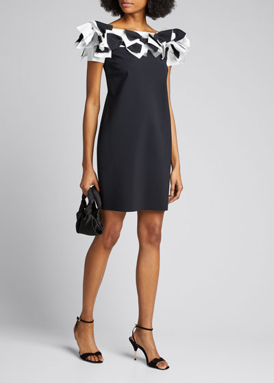 Off-the-Shoulder Multi-Bow Dress