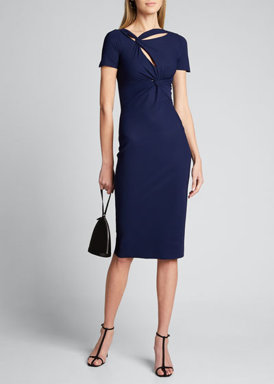 Short-Sleeve Knot Dress