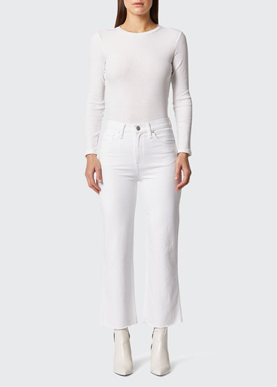Remi High Rise Straight Crop Jeans
