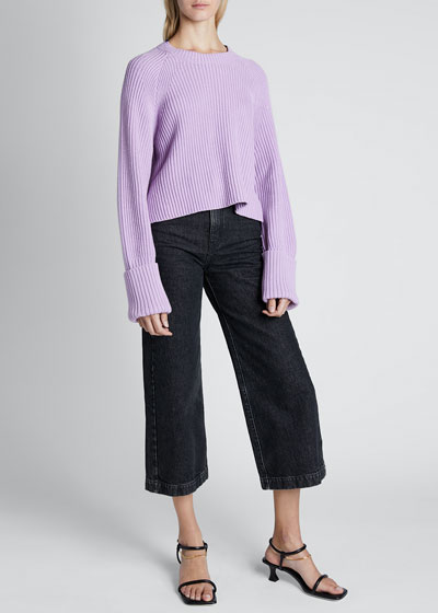 Cotton-Wool Cropped Pullover