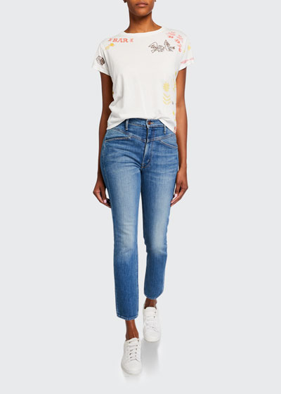 The Dazzler Yoked-Front Ankle Jeans