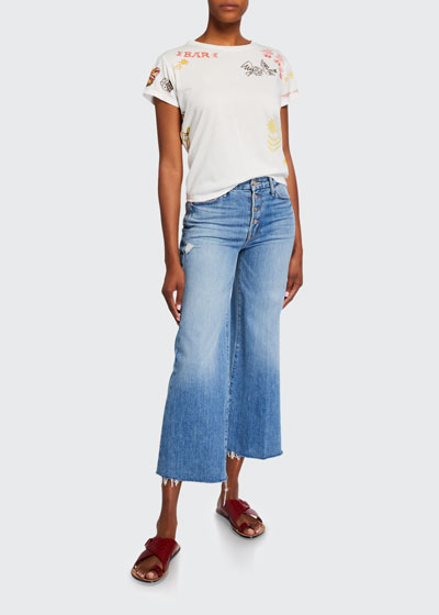 The Pixie Roller Ankle Fray Jeans