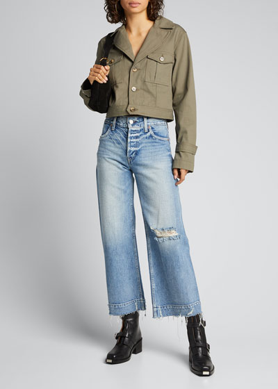 Audrey Cropped Wide-Leg Jeans