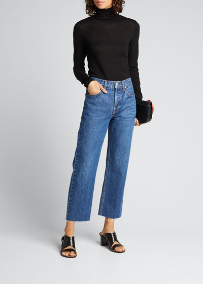 Vivienne Cropped Straight-Leg Jeans