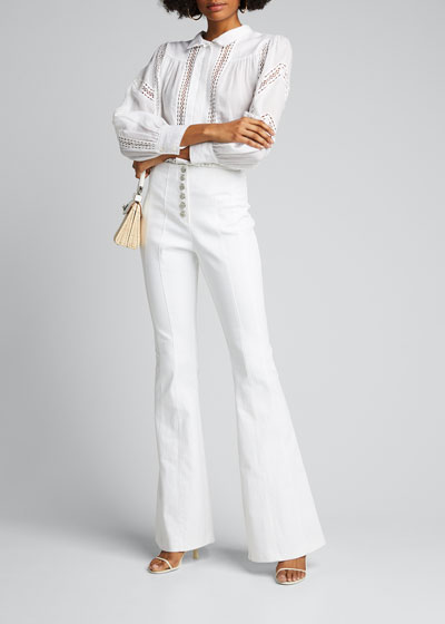 Carolina Flare Pants w/ Button Front
