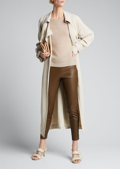 Cropped Leather Leggings
