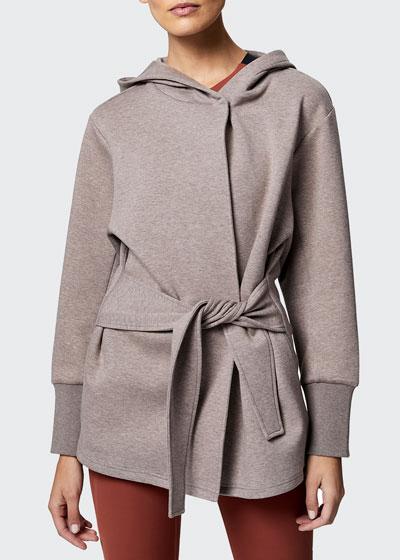 Cove Wrap Hooded Sweatshirt Jacket