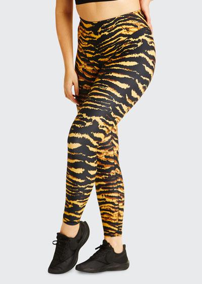 French-Cut Leggings - Tiger