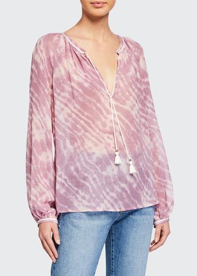 Clarissa Tie-Dye Long-Sleeve Top