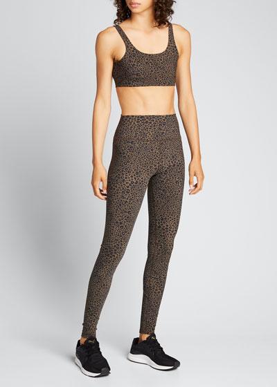 Vapor High-Waist Leopard-Print Leggings