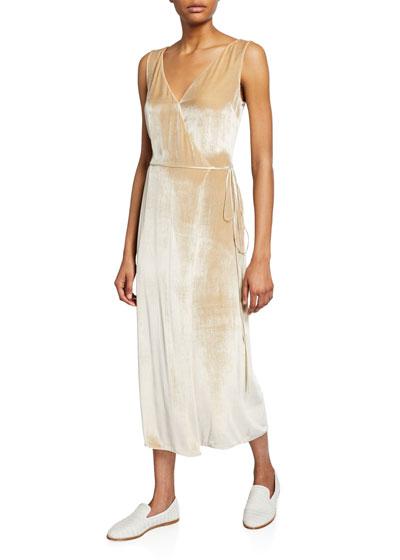 Panne Velvet Wrap Dress