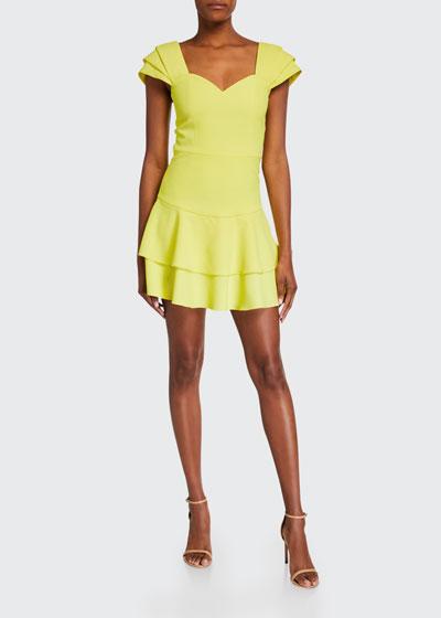 Brinda Double Ruffle Fit Flare Dress
