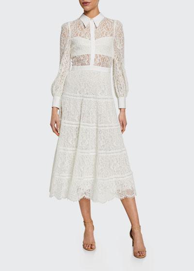 Anaya Collared Tiered Dress