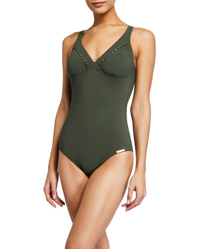 Eclat Elegance Non-Wire One-Piece Swimsuit