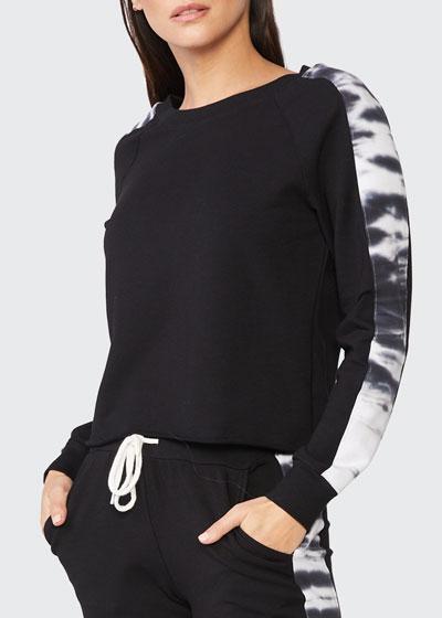 Double-Layer Sweatshirt w/ Tie Dye Side Panels