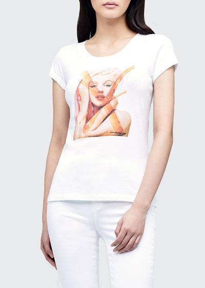Cory Marilyn Monroe Graphic Scoop-Neck Tee