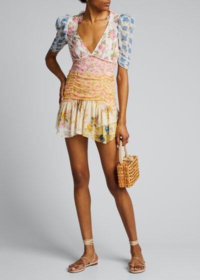Arlo Floral Print Mini Dress