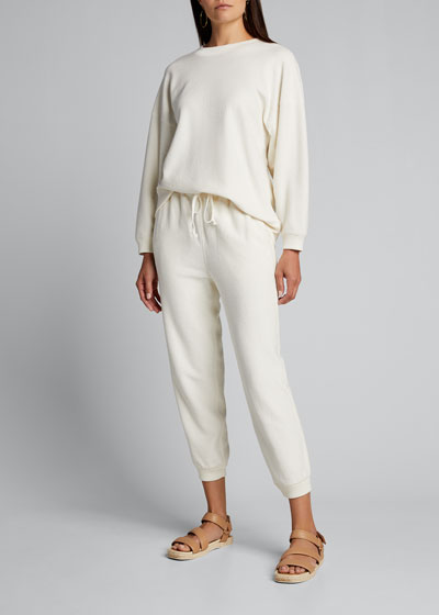 Ribbed Long-Sleeve Pullover