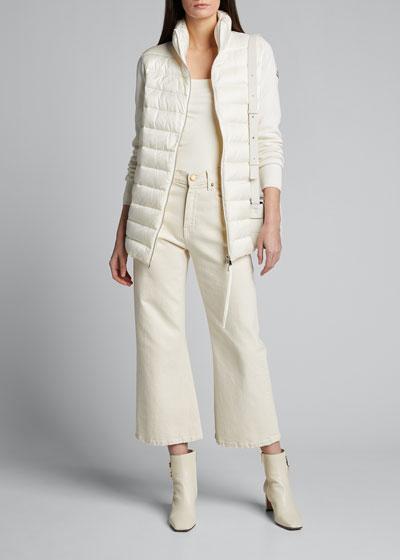 Basic Long-Sleeve Down Cardigan
