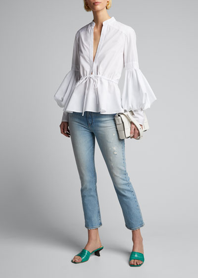 Holly Cropped Boot-Cut Jeans
